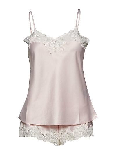 Lrl Signature Lace Cami Top Set Pyjama Pink LAUREN RALPH LAUREN HOMEWEAR