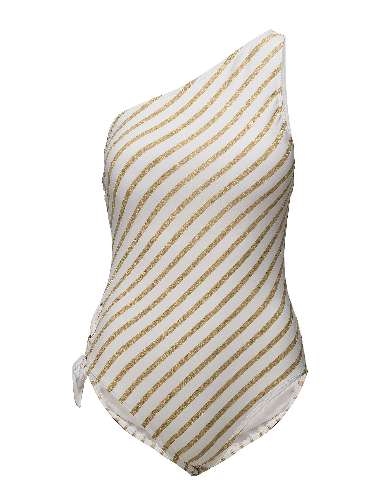Lauren Ralph Lauren Swimwear LUREX STRIPE ONE SHOULDER LACE SIDE MIO SHAPE Badkläder