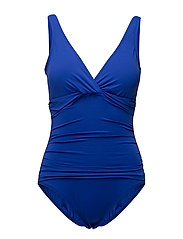 BEACH CLUB SOLIDS TWIST OTS UW 1P SLIM - CAPRI BLUE