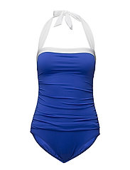 BEL AIRE SOLIDS SHIRRED BANDEAU MIO SLIM - ROYAL BLUE