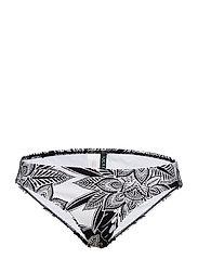 Lauren Ralph Lauren Swimwear GRAPHIC FLORAL PRINT HIPSTER LOGO PLATE Black / - BLACK / WHITE