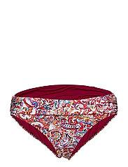 Lauren Ralph Lauren Swimwear Mystic Paisley Shirred Band Hipster - PLUM
