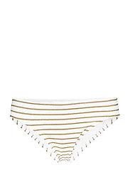 Lauren Ralph Lauren Swimwear Lurex Stripe Stripe Hipster - GOLD/WHITE