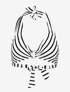 Stripe Mix Ring Front Halter - BLACK