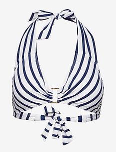 Stripe Mix Ring Front Halter - BLUE