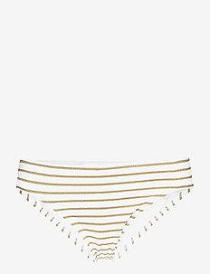 Lurex Stripe Stripe Hipster - GOLD/WHITE