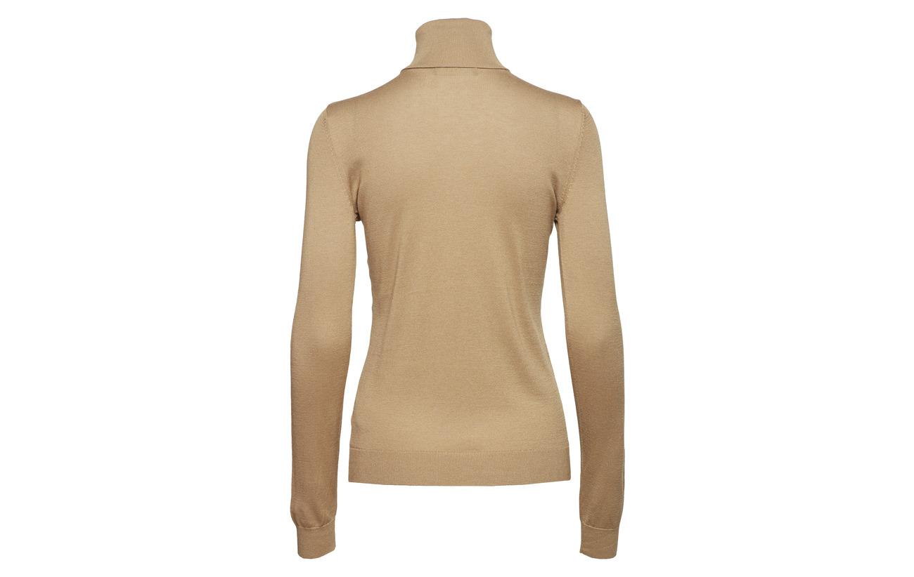 Silk Modale 50 Turtleneck Coton 32 Lauren Ribbed Ralph Nylon 18 Classic blend Camel qnvEgx6