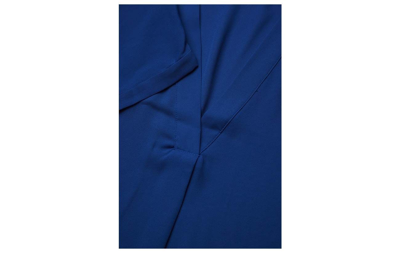 Top Coquille neck Polo Lauren Polyester Ralph 100 Doublure Black V Georgette Extérieure Xn00IUxB