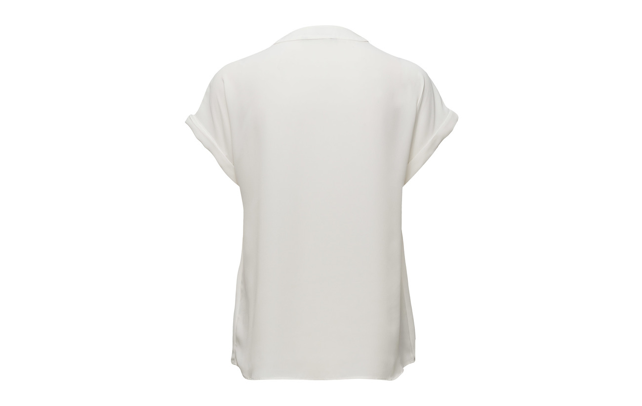 Lauren V Ralph Doublure Top Extérieure 100 Cream neck Coquille Polyester Mascarpone Georgette HqBwrEH
