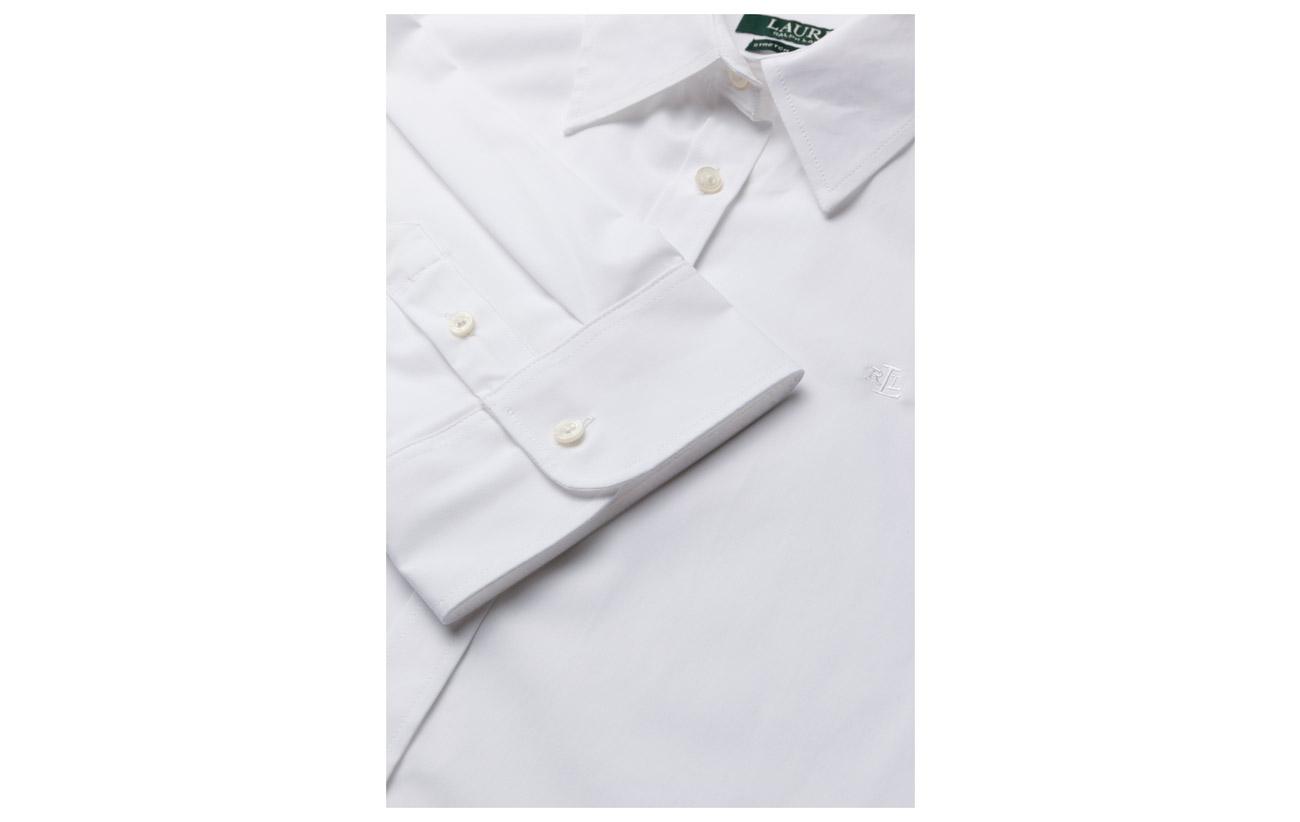 Coton 50s Iron Strtch Elastane 3 White 5 Shirt 4 Ralph Slv Non Lauren 95 xBUqPnI