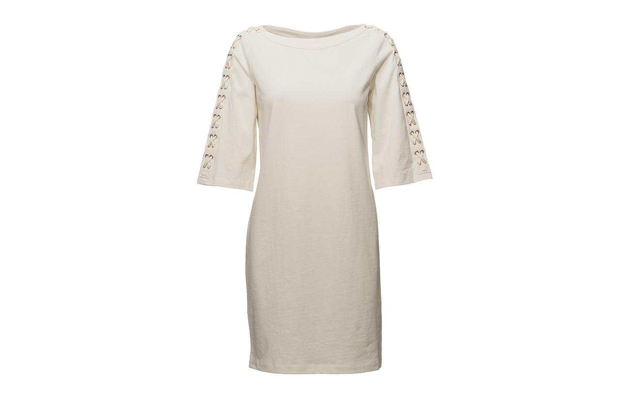 Up Plait Lt Chalk Lauren lace Jsy Ralph Coton Dress Wt 100 Ctn wBC0pq