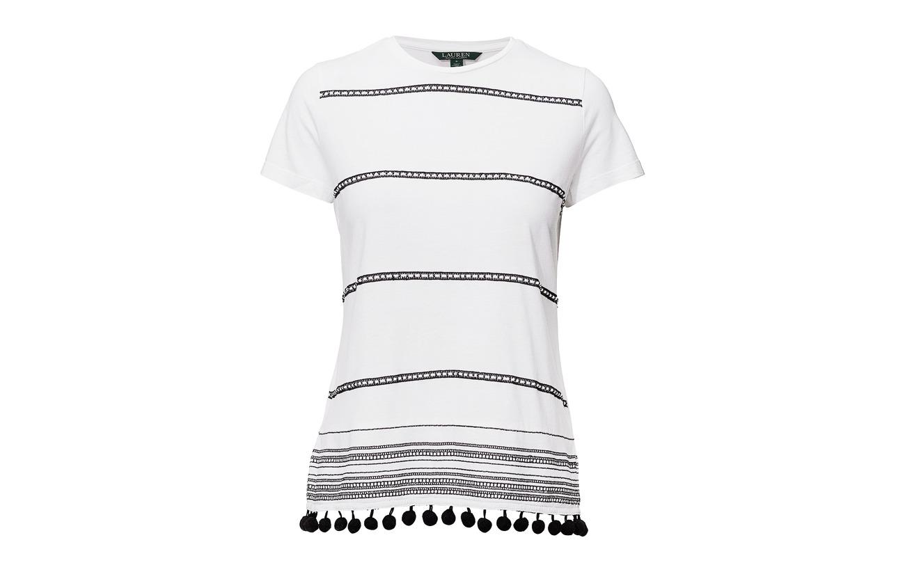 Pom Coton trim Patterned Soft 40 Ralph Modale Shirt pom Lauren White 60 azx5q5