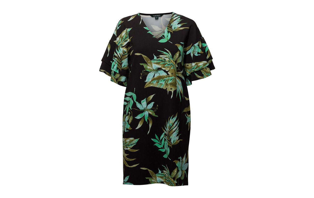 Print Shift Black Ralph Ponte Dress 5 Nylon Lauren 84 Viscose Elastane 11 Multi qt5Xwxn