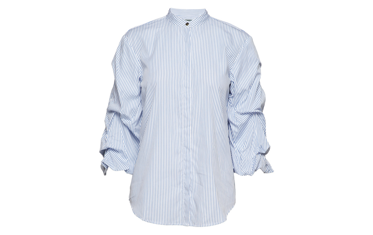 Ralph Shirt Multi Modale Cotton Nylon Blue 18 32 Puff Lauren 50 sleeve Coton dwSqUdI