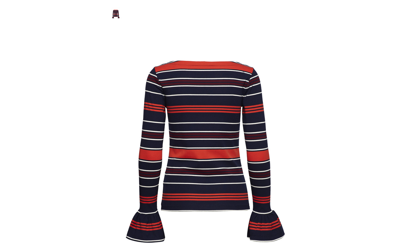 Lauren Multi Ralph 18 Striped 32 50 Bell Coton Top cuff Modale Nylon qw61FBq