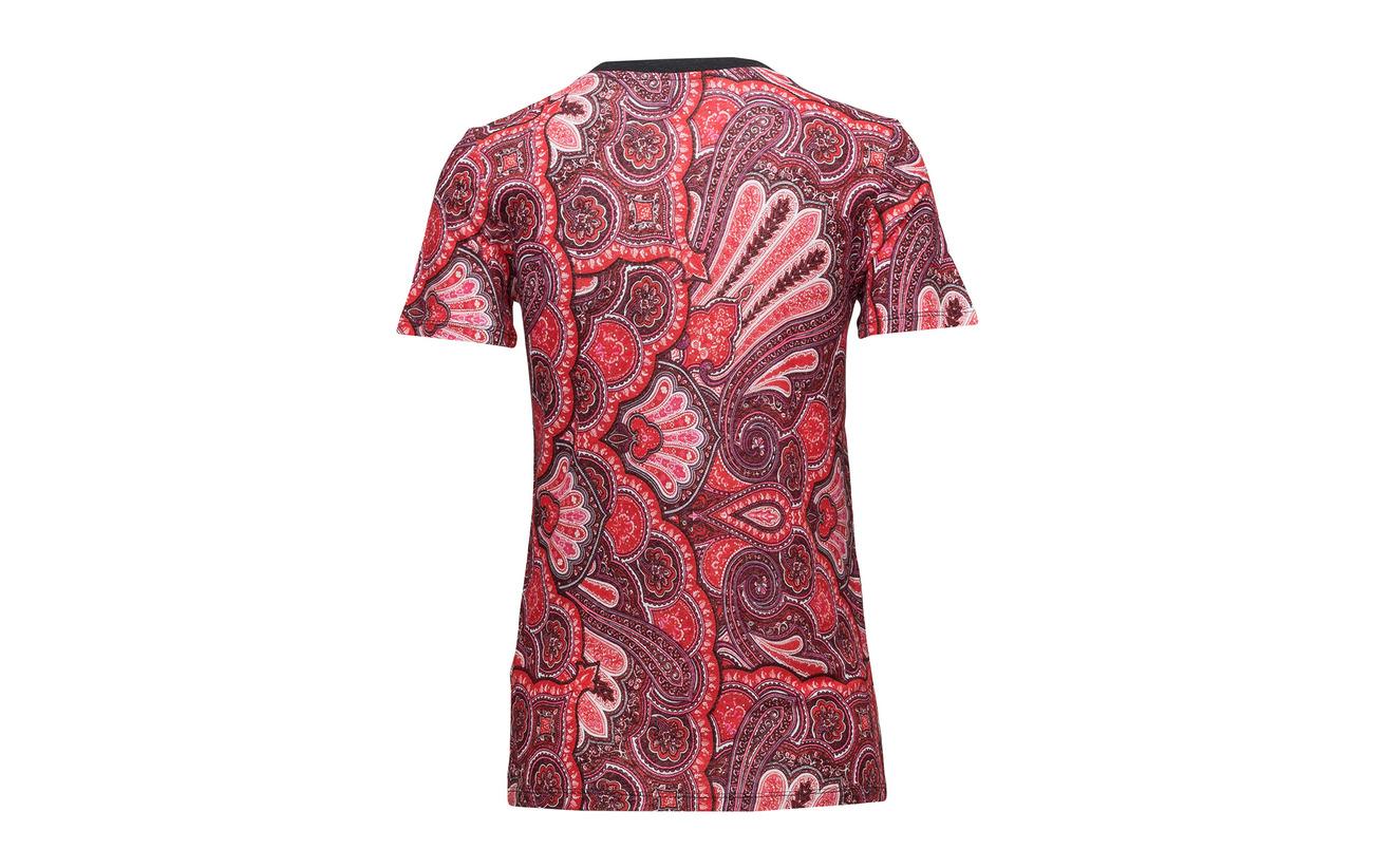 Viscose Lauren Linen Ralph Lin T blend Multi 45 shirt 55 Red wvwq76