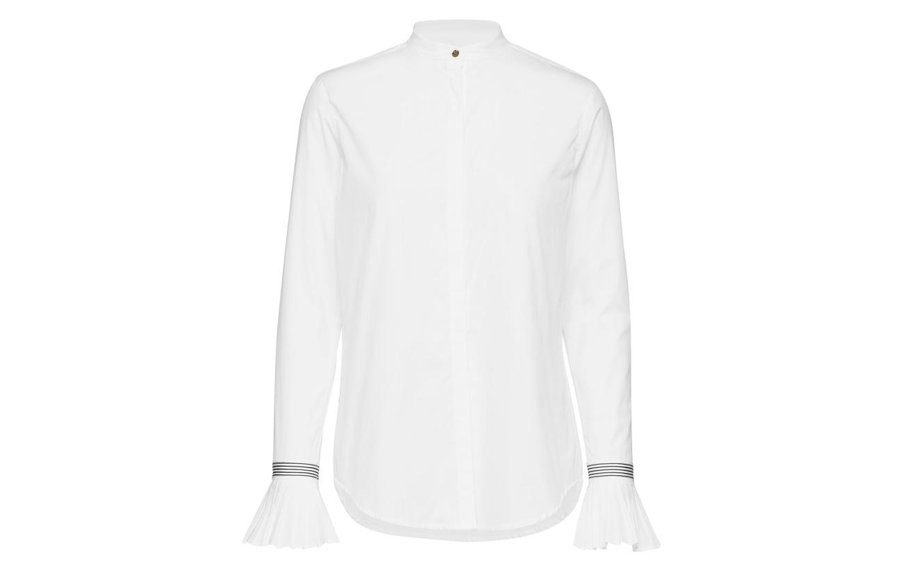 Coton cuff Cotton Pleated Shirt 100 White Ralph Lauren w01pE