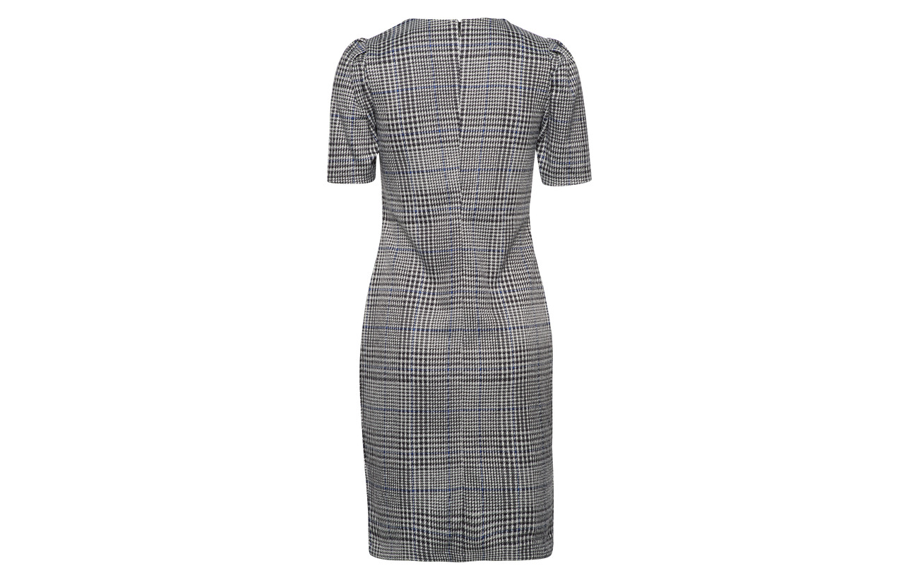 Polyester Multi Ralph Viscose knit 1 Dress 64 35 Jacquard Lauren Elastane Glen Plaid fw88Yq