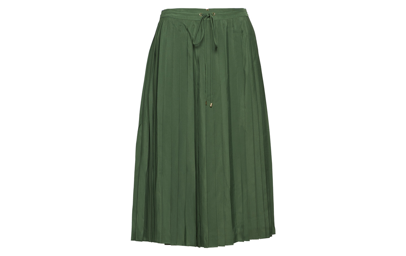 Inner Ralph Lauren Extérieure 100 Skirt Basil pleated Cdc Green Poly Coquille Doublure Polyester OPr8xP