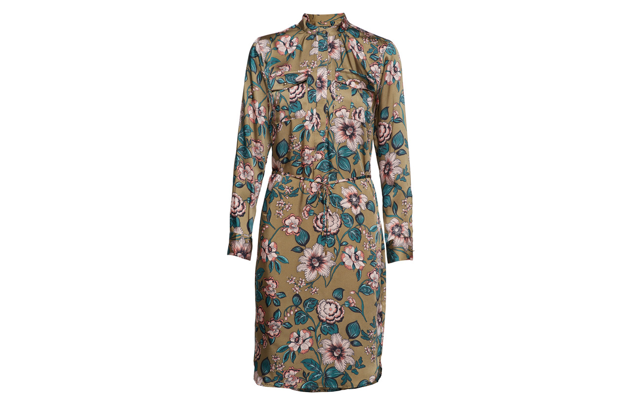 Ralph Twill ls Dress 100 Multi Silky Polyester Lauren AZpnx8dZ