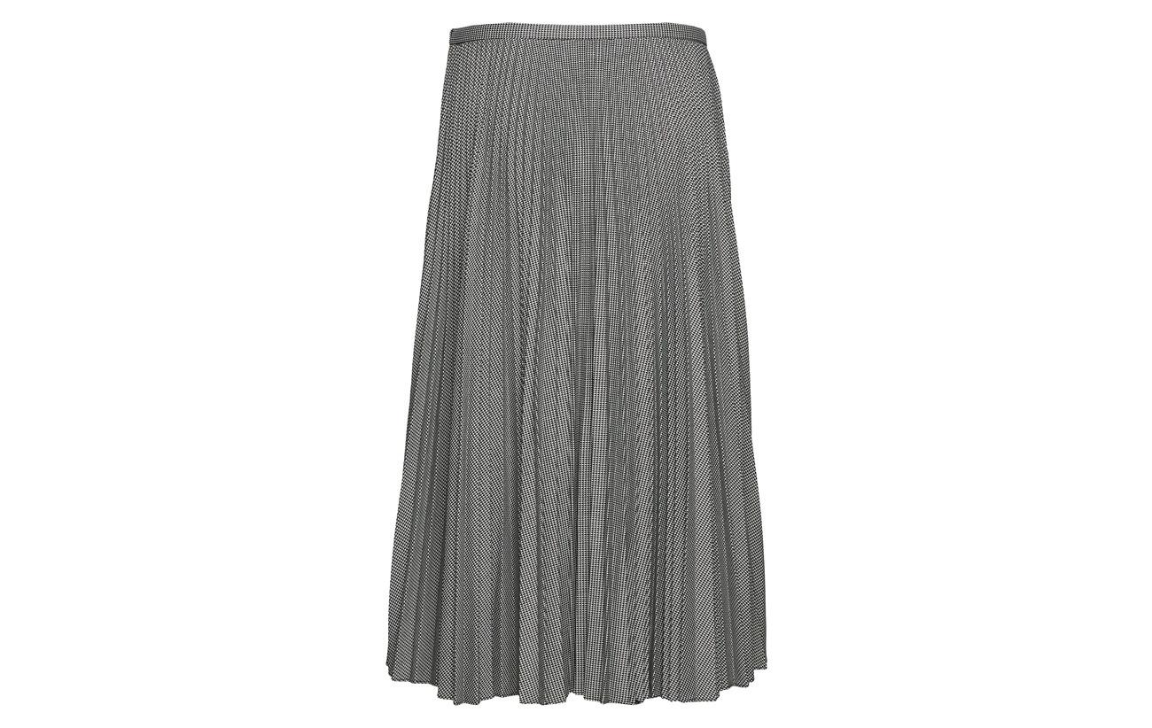 Polyester cream 63 34 Viscose Elastane Ralph Twill Black 3 Pleated A line Skirt Lauren g4TBzqfw0