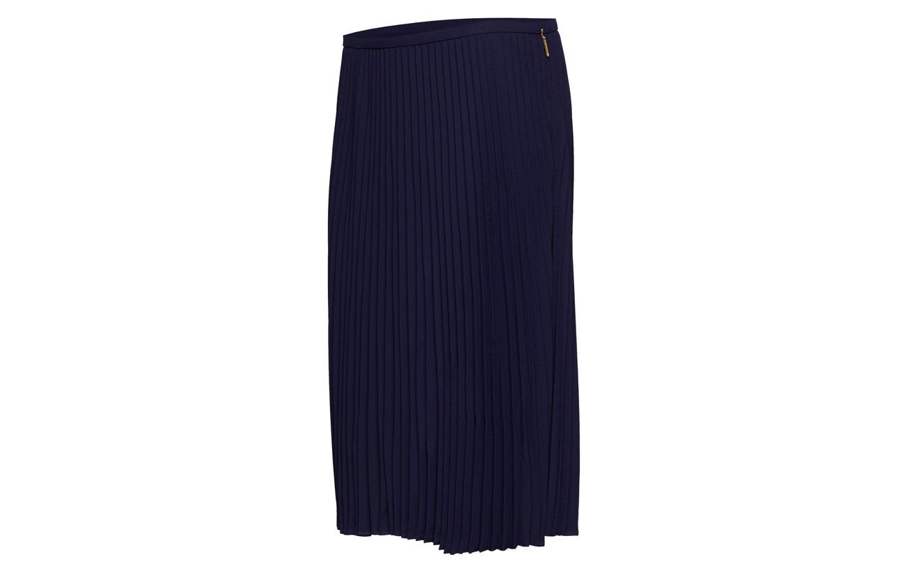 Georgette skirt 32 Triple 50 Navy Ralph Lauren Coton Modale Nylon 18 a4qw7a