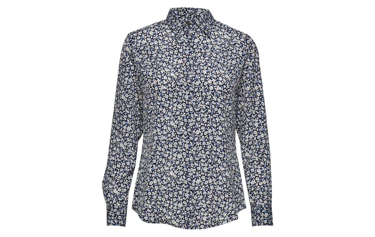 100 Poly Shirt Lauren Multi Cdc Polyester ls Ralph Cp44q5Y