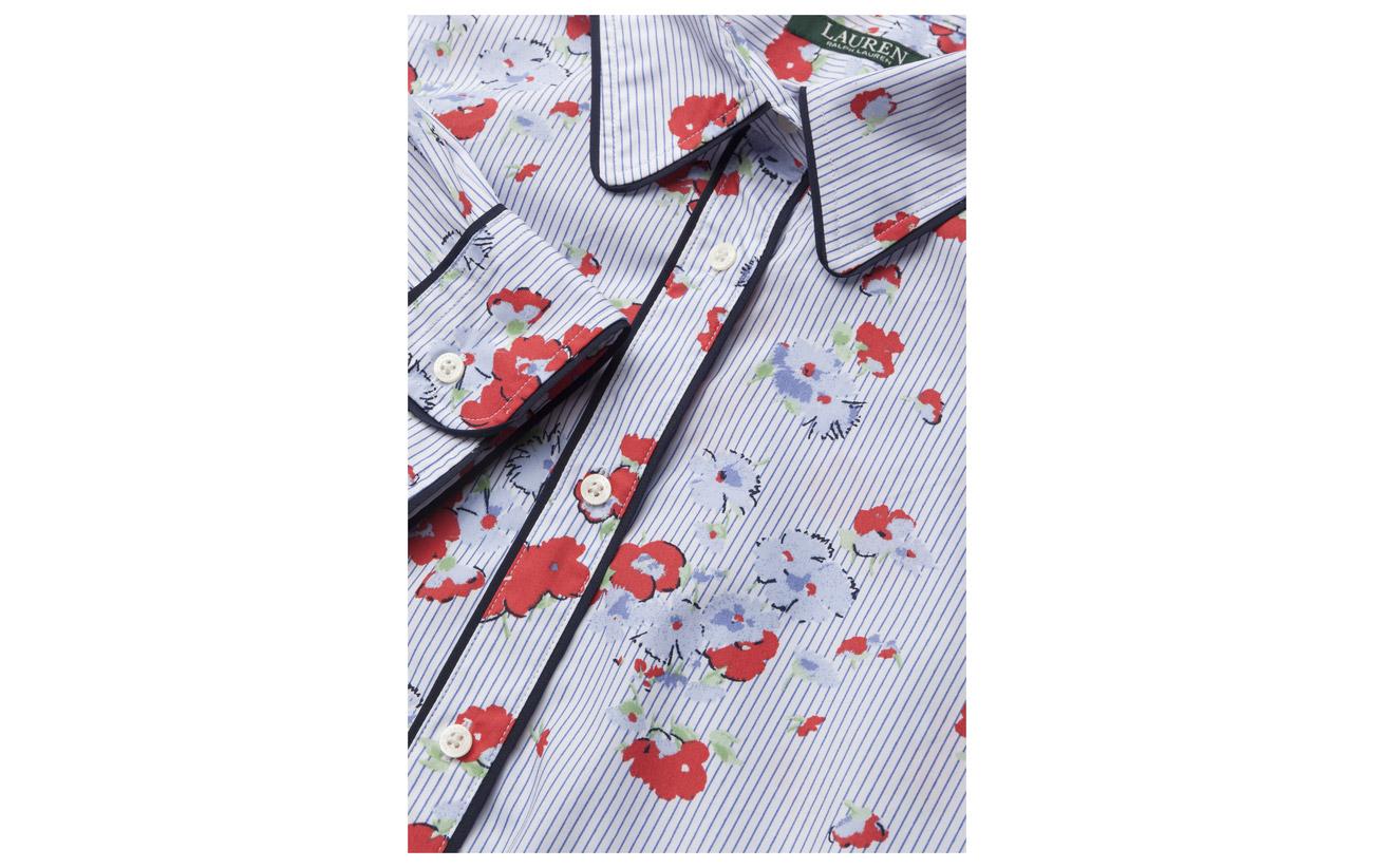 Ralph ls Broadcloth Shirt Cotton Multi 100 Lauren Coton qdRvZq