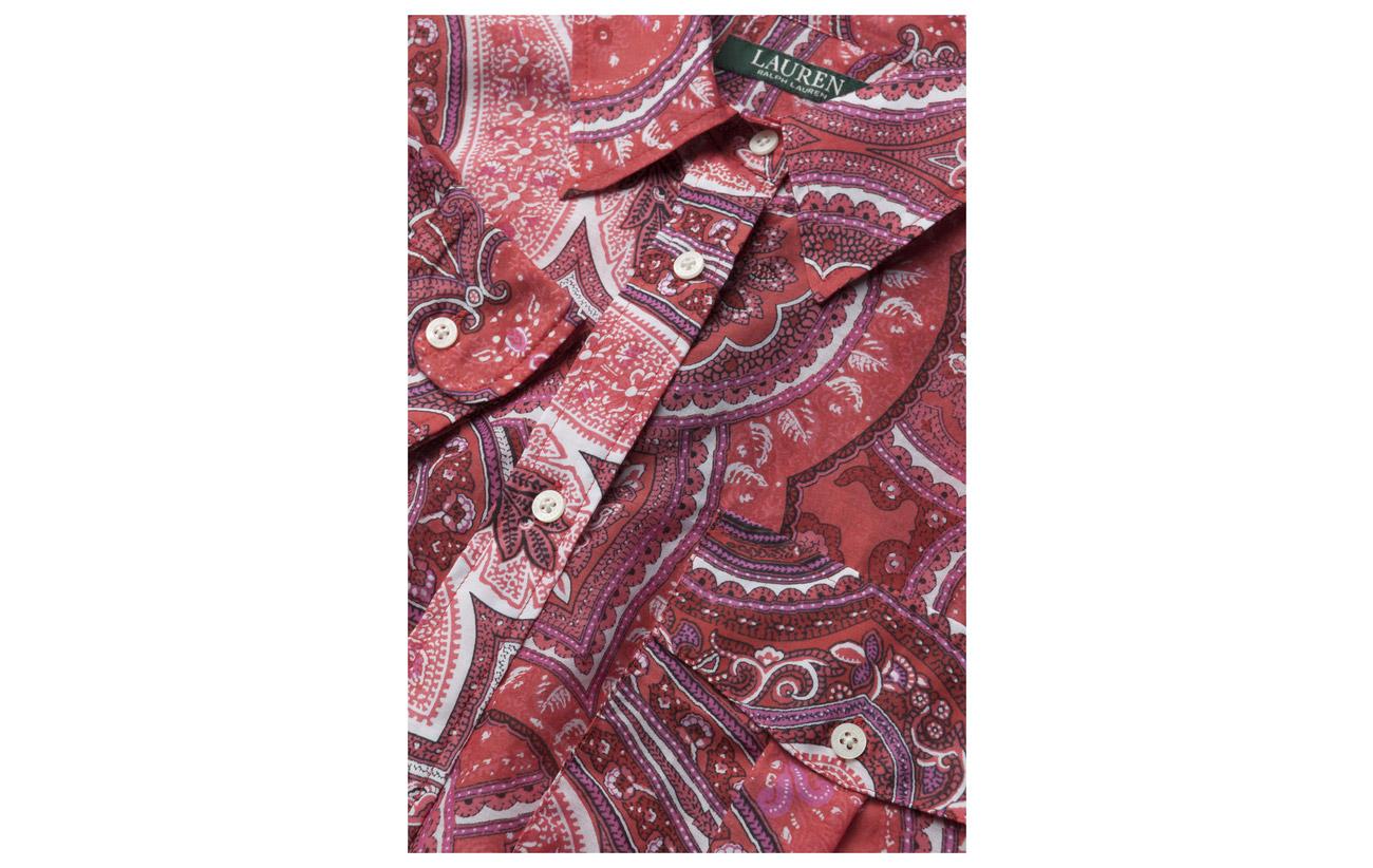 Red Multi Lauren Shirt Soie Voile 27 Ralph Silk Coton ls 73 Cotton n1qppY0wfF