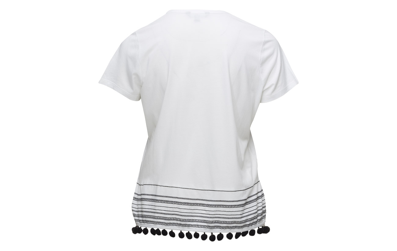 Lauren Modale Soft Jrsy 40 60 Ctn White Uptown Mdl Ralph ss Top Coton rwq71r6