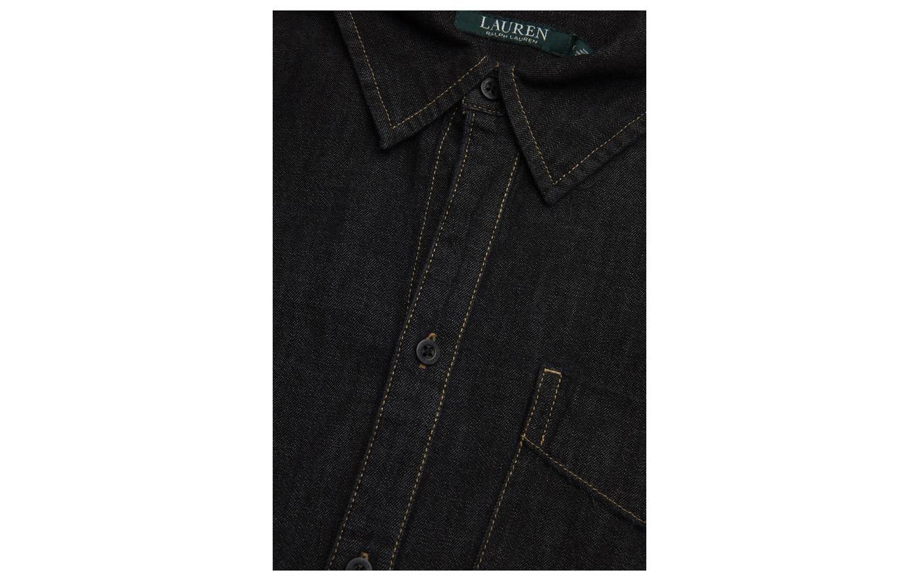 Size Wash Ralph Coton Dark Shirtdress Lauren Denim 100 Pitch Plus qWTn1EEdF