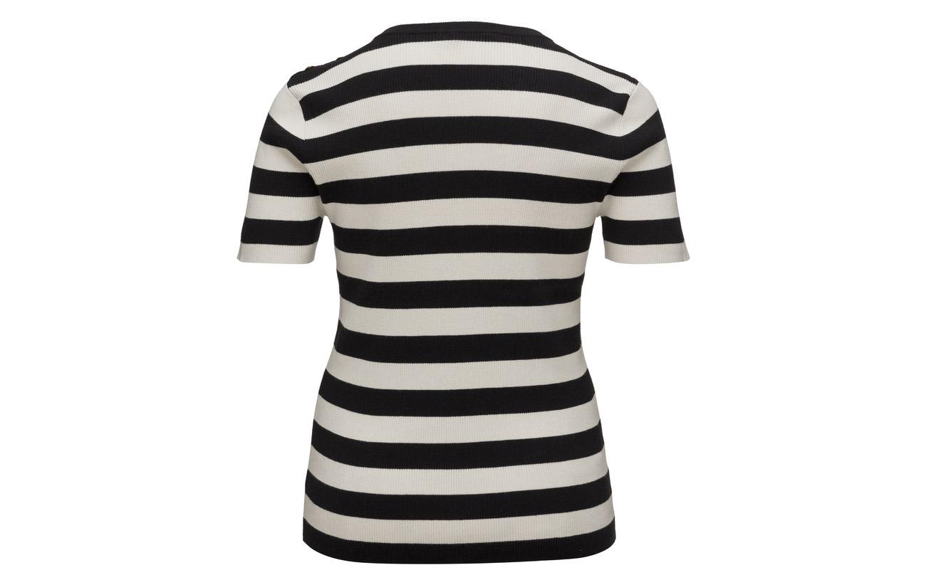 31 C masc Striped Buttoned Lauren 51 Coton Black Top 18 Ralph Plus Polo Nylon Modale Size zq8nC78a
