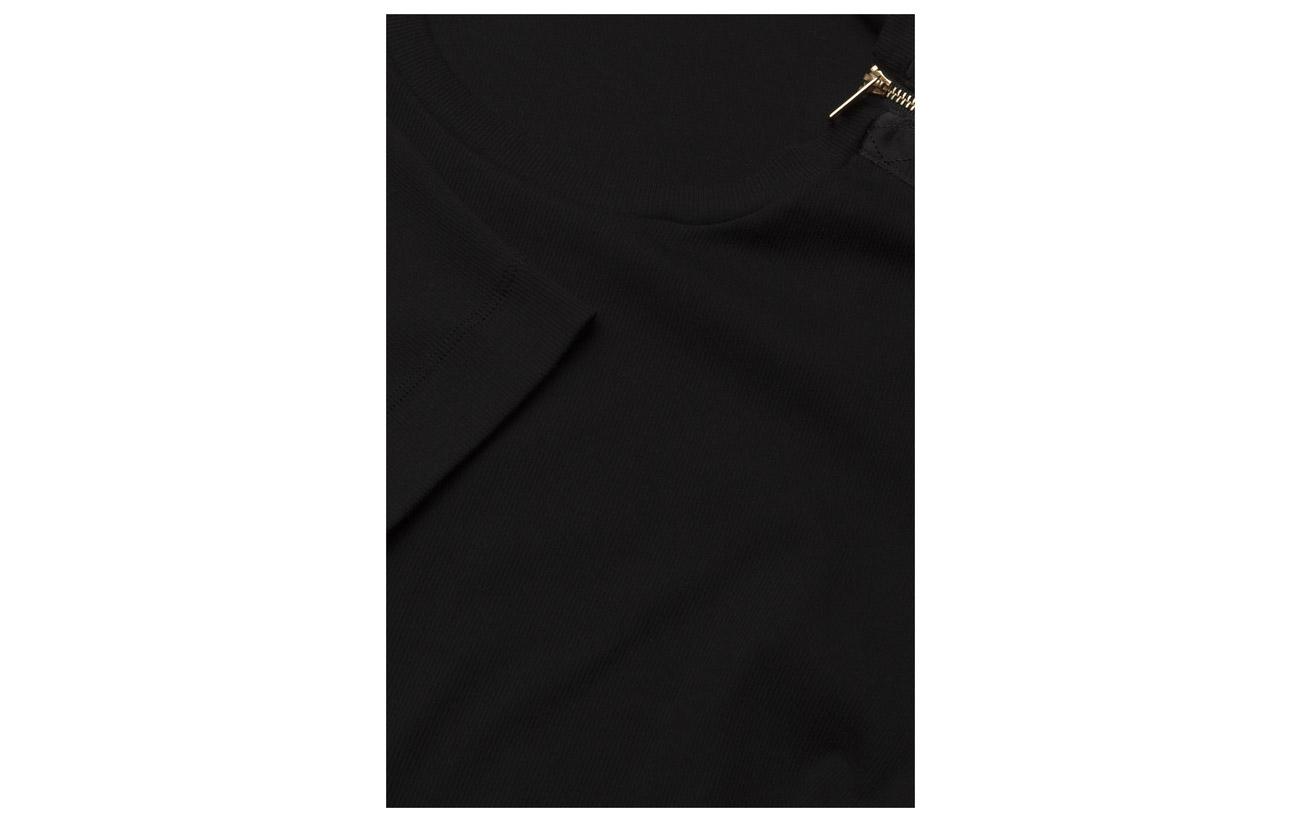 Ralph 6 Zipper Mascarpone Cotton 94 Top Coton Lauren trim Elastane Cream blend qZ6dxwWvn7
