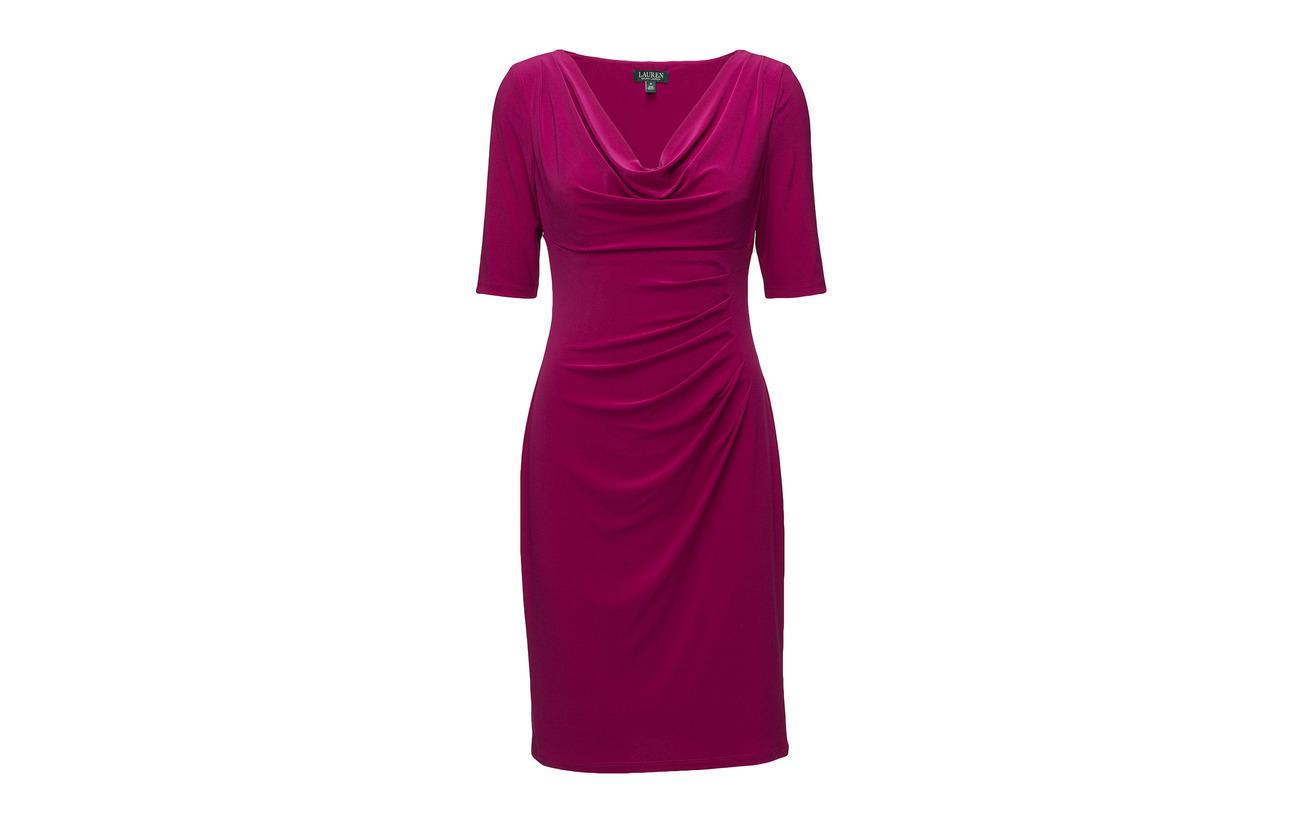 Dress Ralph Lauren Elastane Lazuli Jersey Polyester Coquille 95 Doublure Cowlneck Extérieure 5 td6rq6