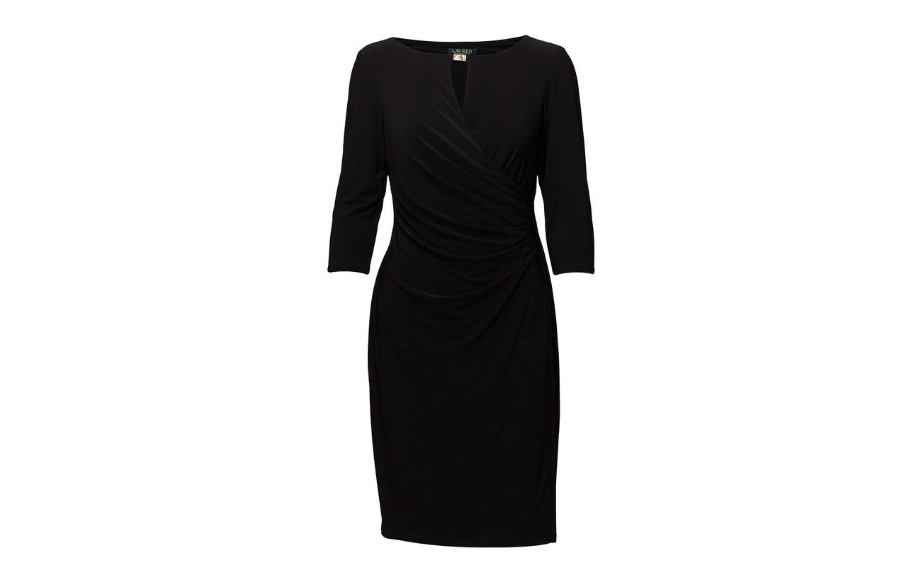 Ruched Polyester 95 Elastane Ralph Extérieure 5 Doublure Deep Dress Lauren Sapphire Jersey Coquille aO5Wq