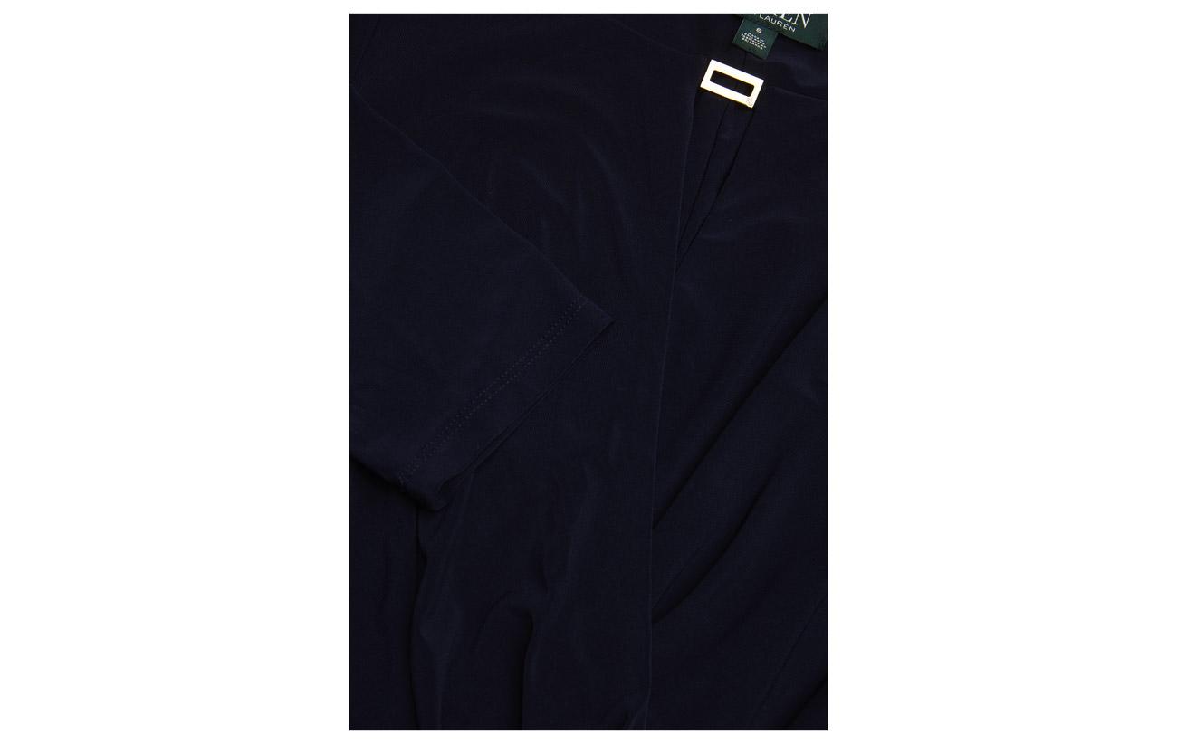 5 Elastane Lauren Ralph Dress Ruched 95 Extérieure New Pomegranate Coquille Doublure Jersey Polyester APR7AOTq
