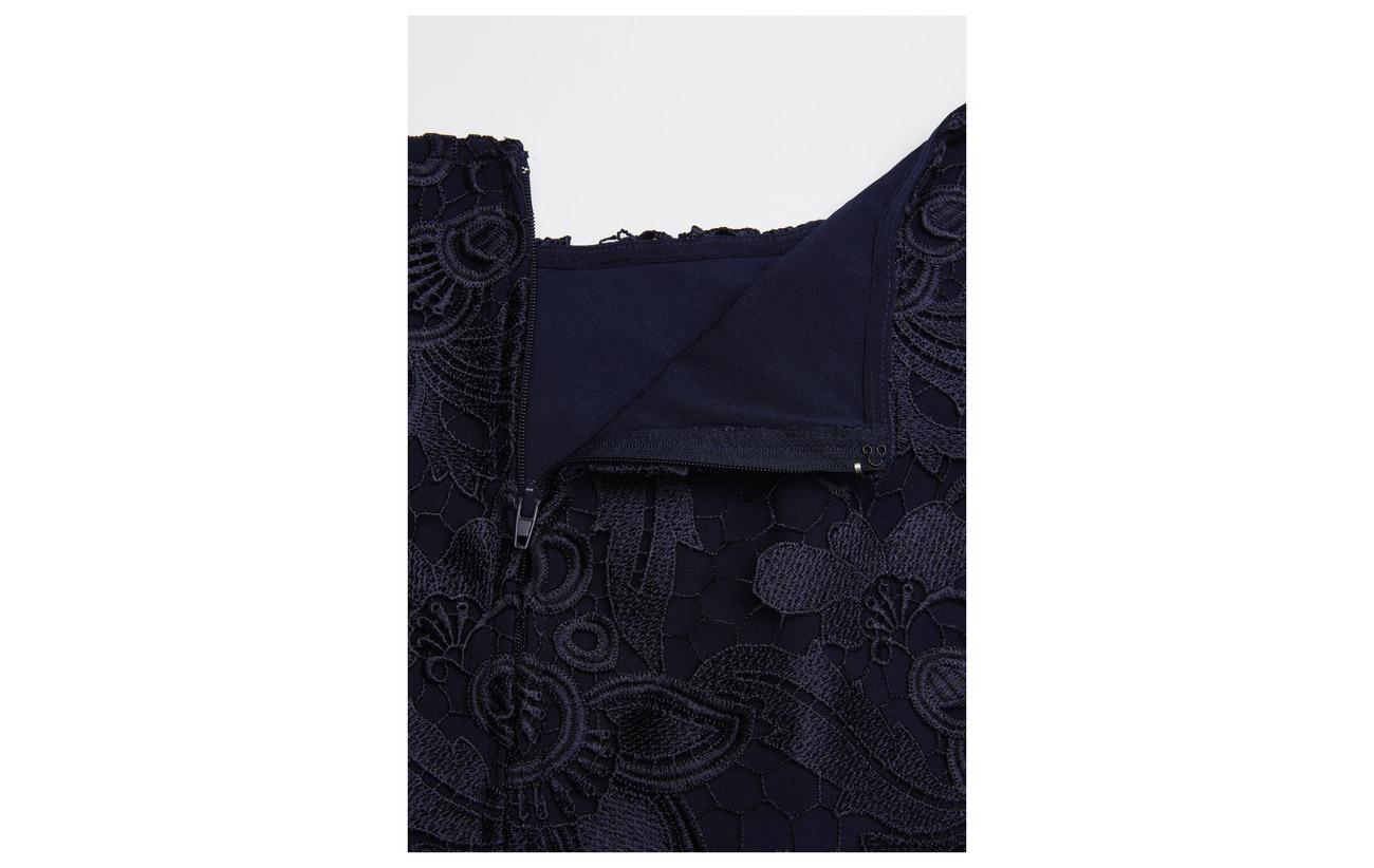 lace Scalloped Lauren 50 18 Coton Spruce Ralph Nylon 32 Modale Dress STw4Eq