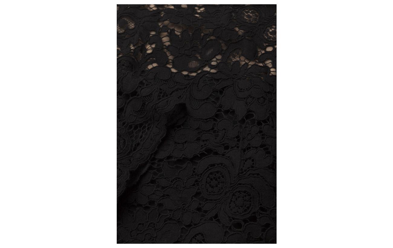 Lauren Lace Nylon Dress 30 70 Ralph Black Coton xgZ6q