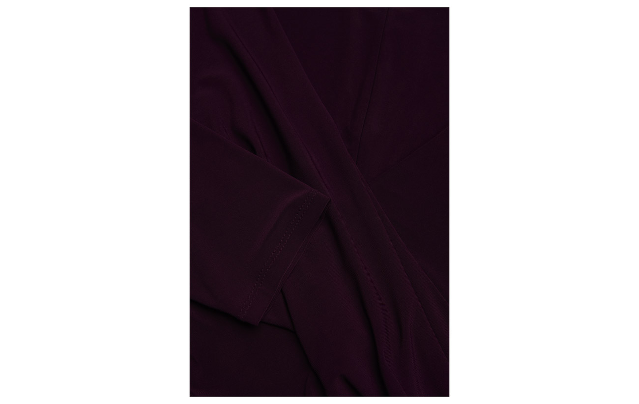 Elastane Ralph 95 Plum Passion Surplice Jersey Dress Polyester Lauren 5 zxOSwRqq