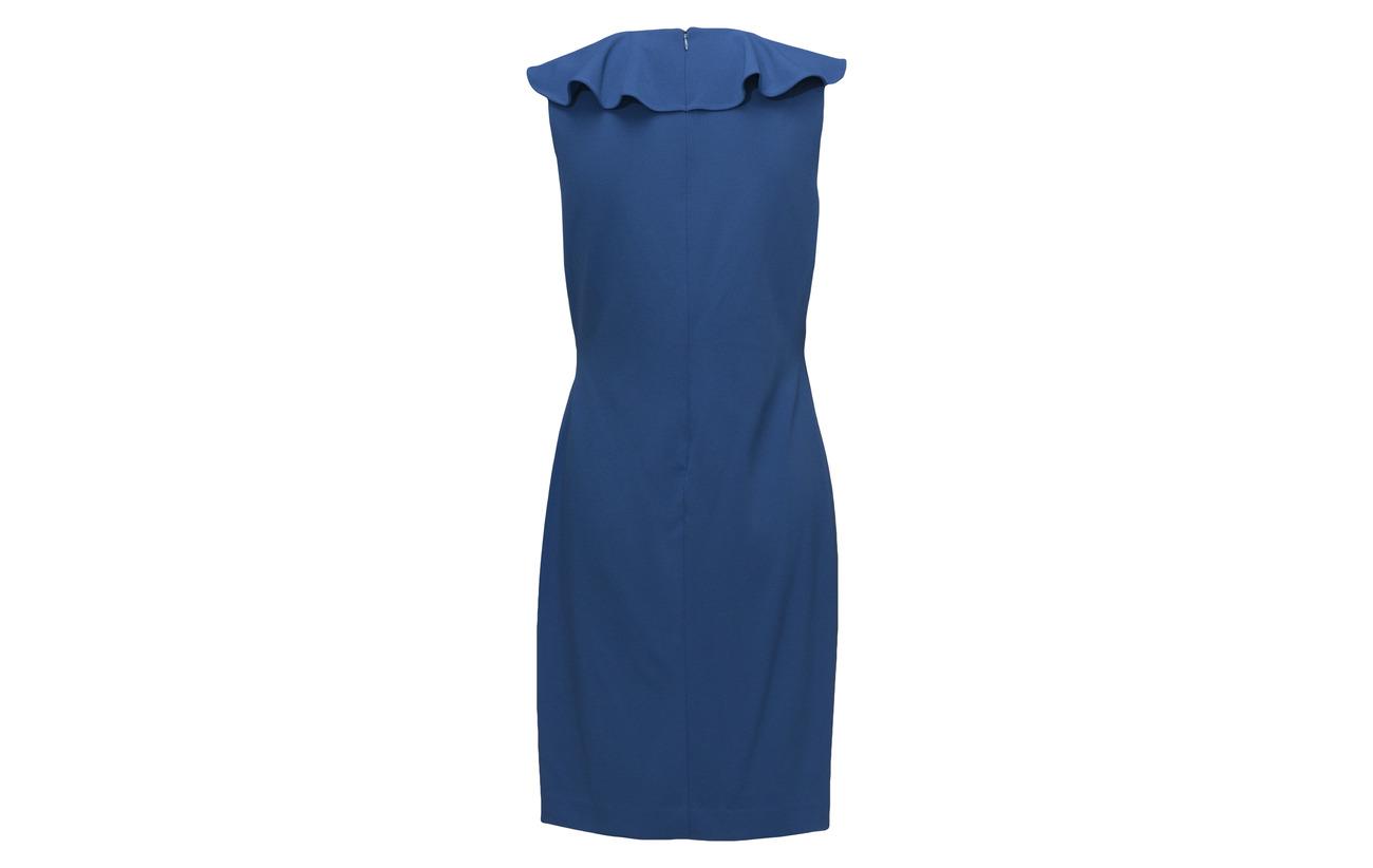 Dress Porter Blue Elastane 94 Jersey Ruffled Polyester 6 Ralph Lauren tIwTOO