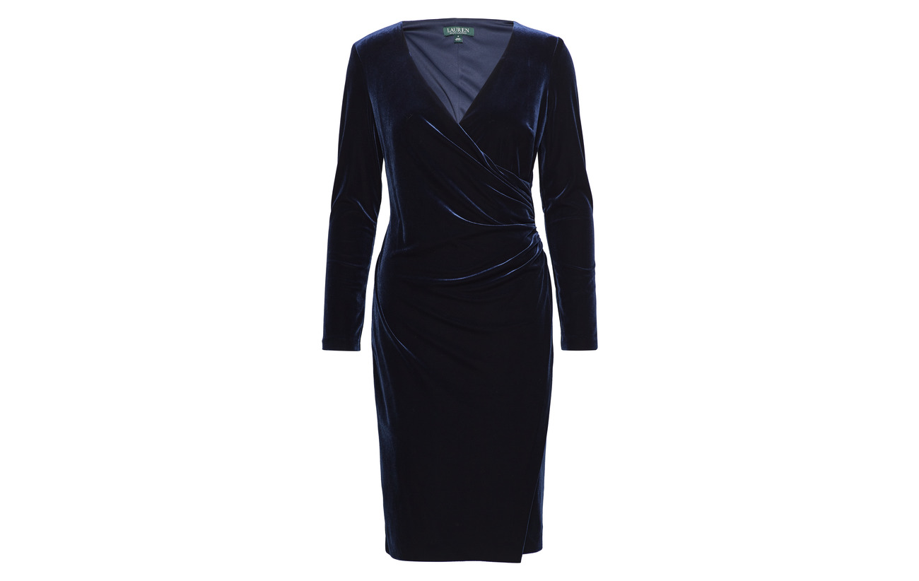 Modale Ralph 32 Nylon Lauren Coton Velvet 18 Nightfall Surplice 50 Dress 8xdxg0