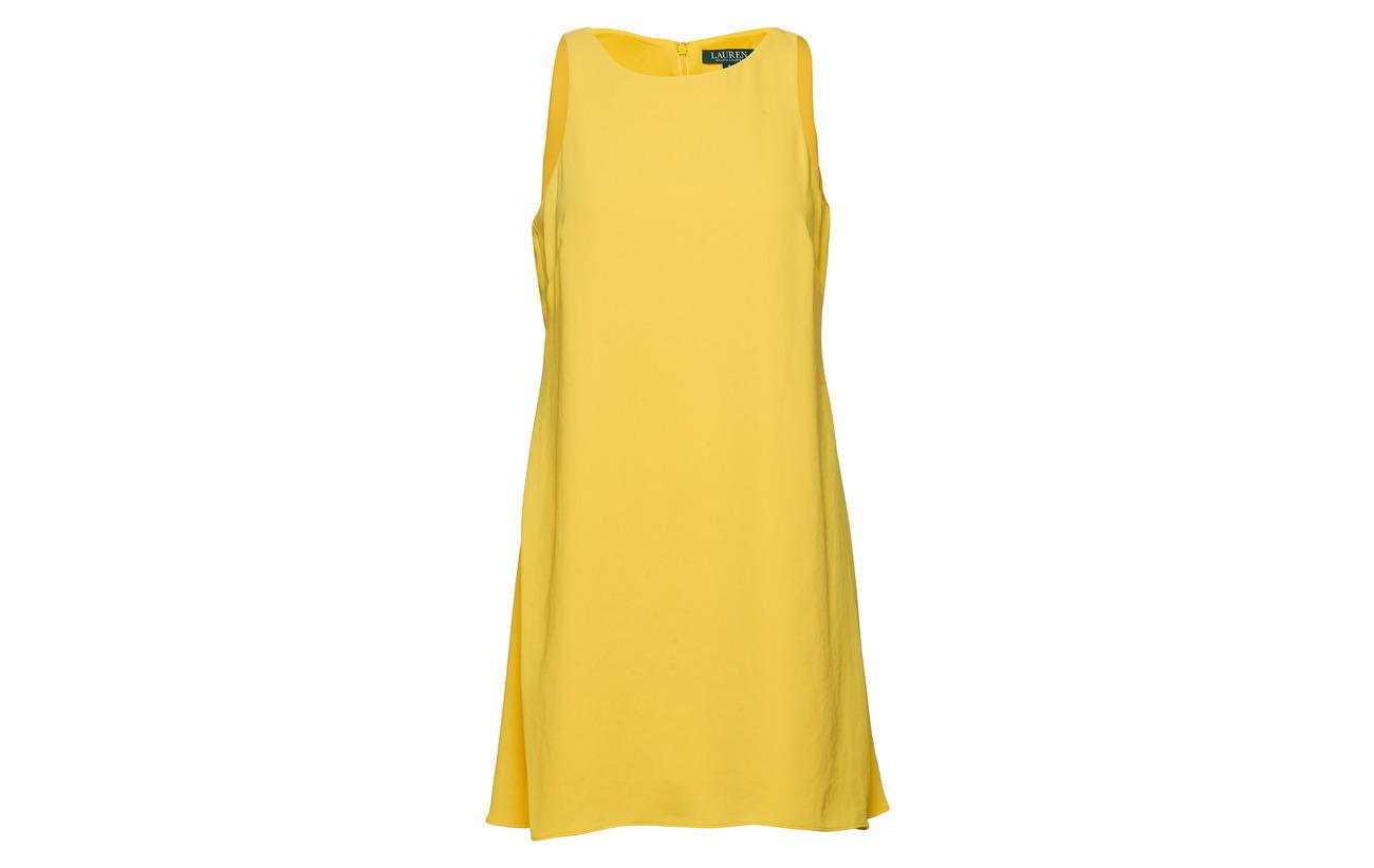 Crepe Lauren Dress Polyester Shift Sleeveless Regatta Yellow Ralph 100 AxrqwCIA