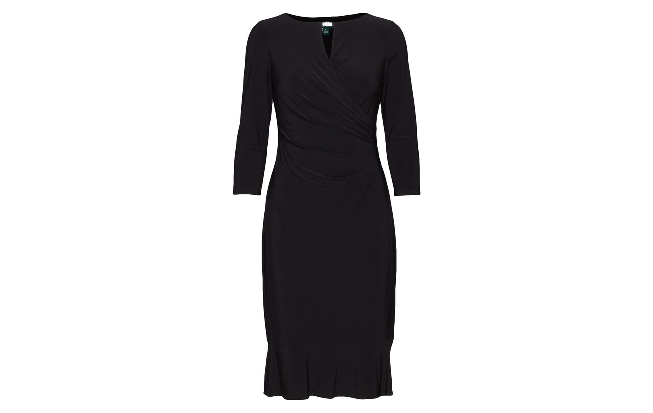 Polyester 95 Lauren Keyhole Jersey 5 Black Dress Ralph Elastane YHH7gqw4