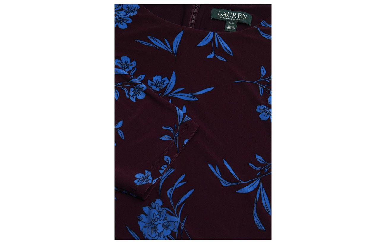 Elastane and flare 95 size Passion Dress Plus rive Lauren Fit 5 Ralph Jersey Plum Polyester SwqIFX6X