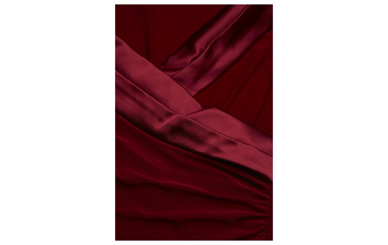 Elastane 95 neckline 5 Lauren Polyester Ralph Jersey Satin Spruce Gown Tw7qx1gHqn