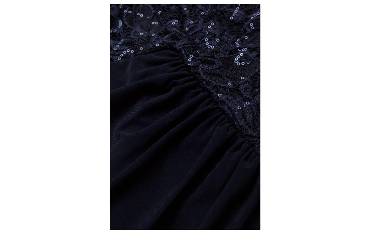 Lauren Body n Skirt Elastane Nylon lh Skirt Sleeve Gown Navy 95 5 100 Ralph Doublure Doublure Sequined Polyester Body Jersey Lh Navy rzqr4Tx