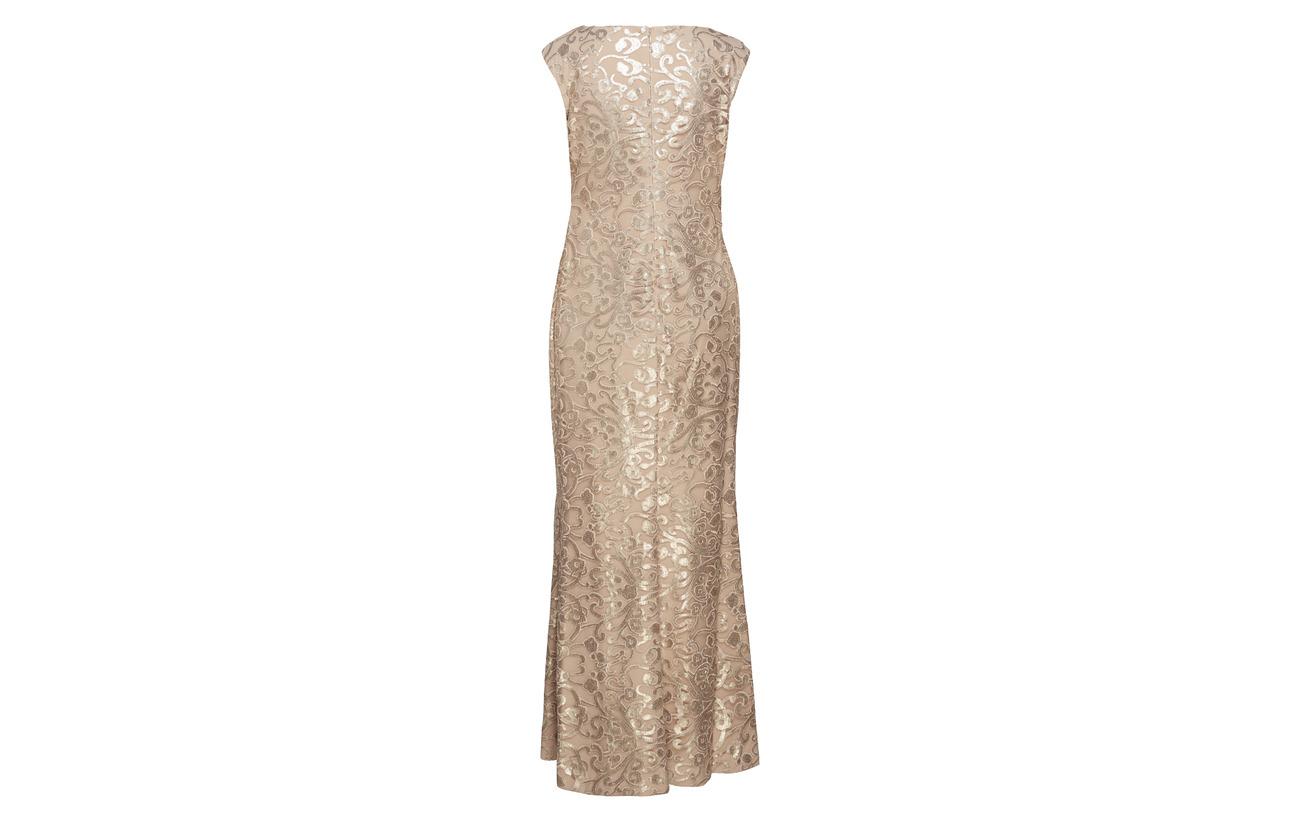 Embroidered Modale Mesh Nylon Lauren Coton 18 50 Matt Gown Ralph Sand Coastal 32 v1wx5