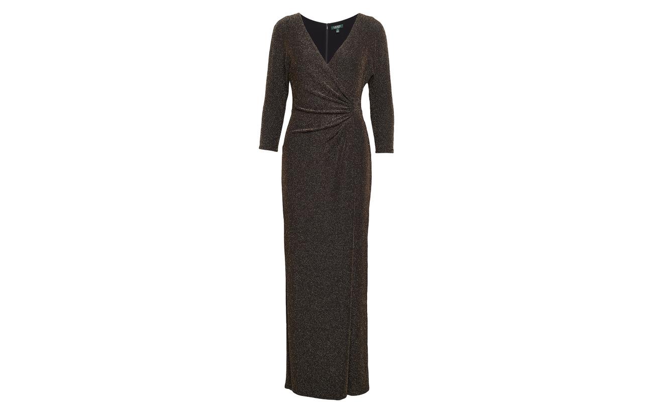 Ralph Nylon Lauren 50 Jacquard gold Spruce 32 Metallic 18 Gown Coton Modale 4PPqdUw