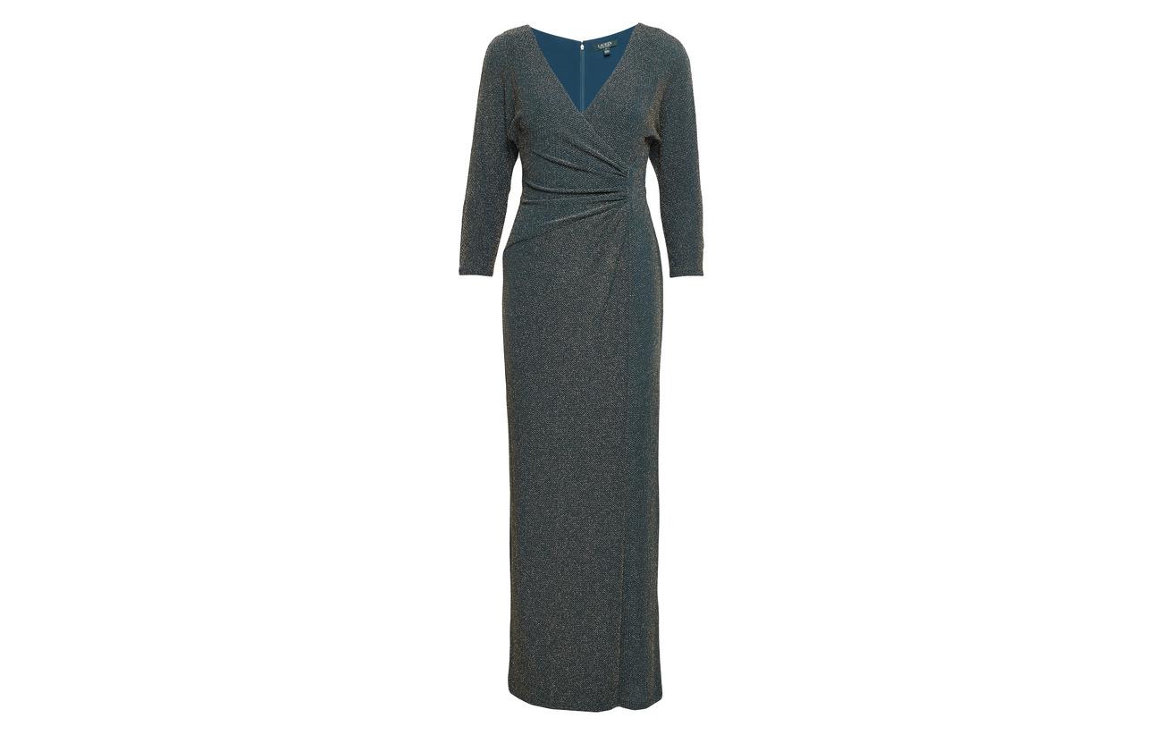 Gown Coton 18 32 Jacquard Modale Lauren Black 50 Ralph Metallic gold Nylon RqSxfwt0x