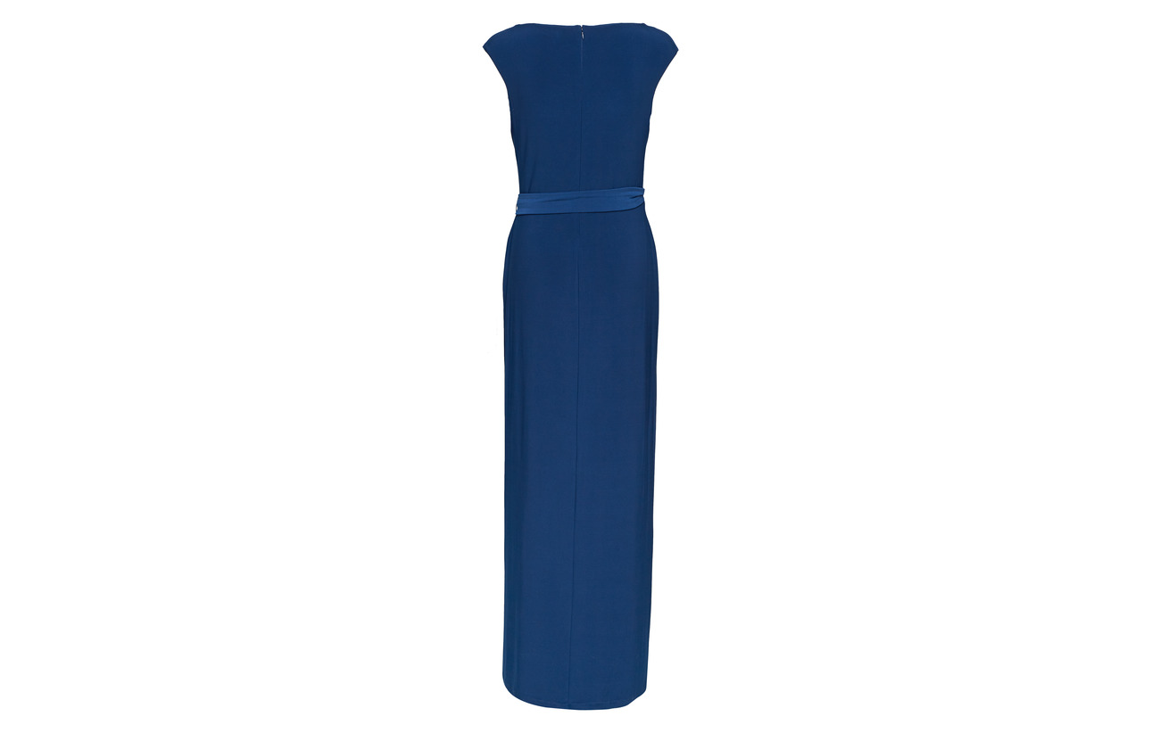 5 Polyester Lauren Black Jersey W matte shayla Ralph Elastane 95 Trim 1t wqzHv